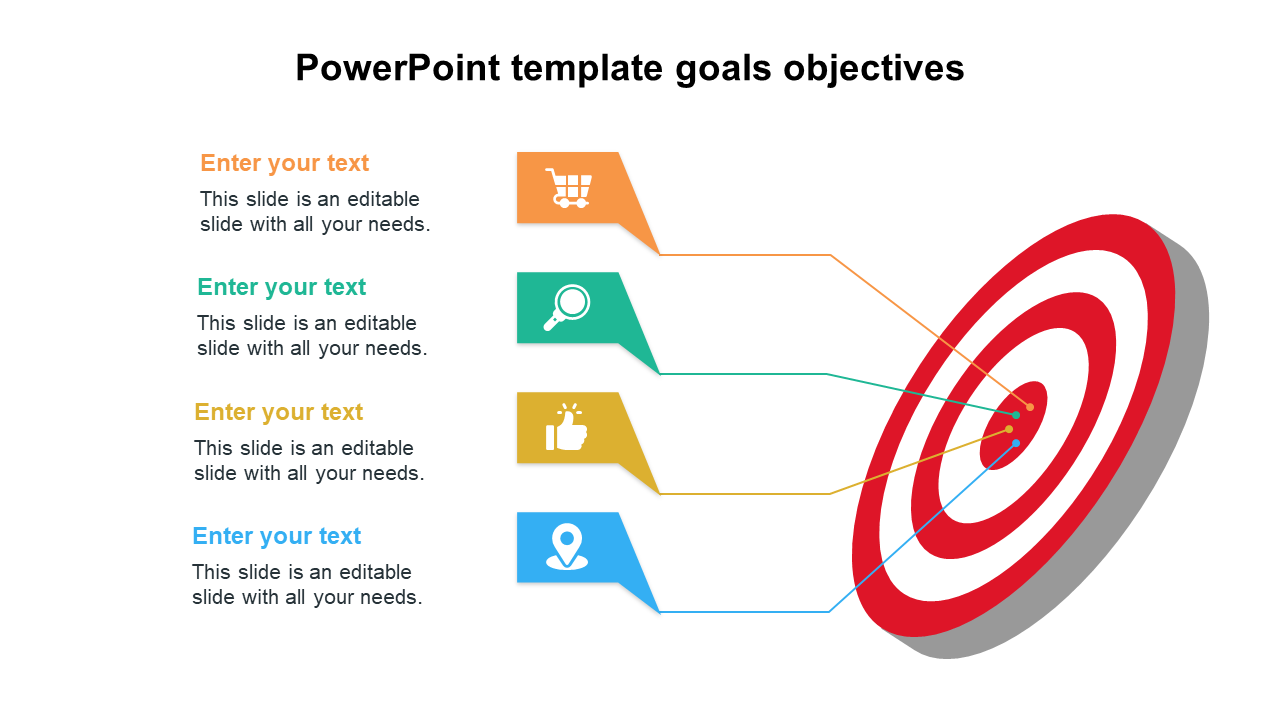 Simple PowerPoint Template Goals Objectives