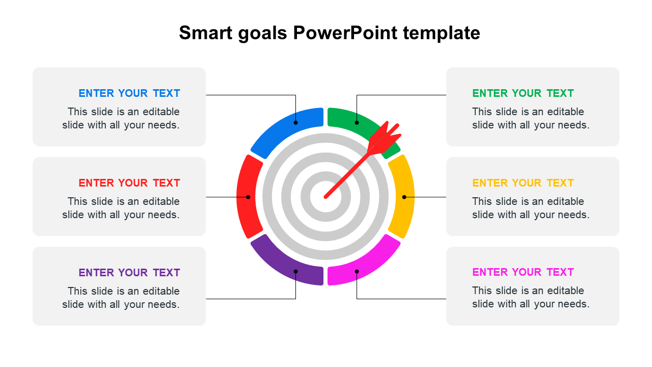Smart Goals PowerPoint Template Diagrams