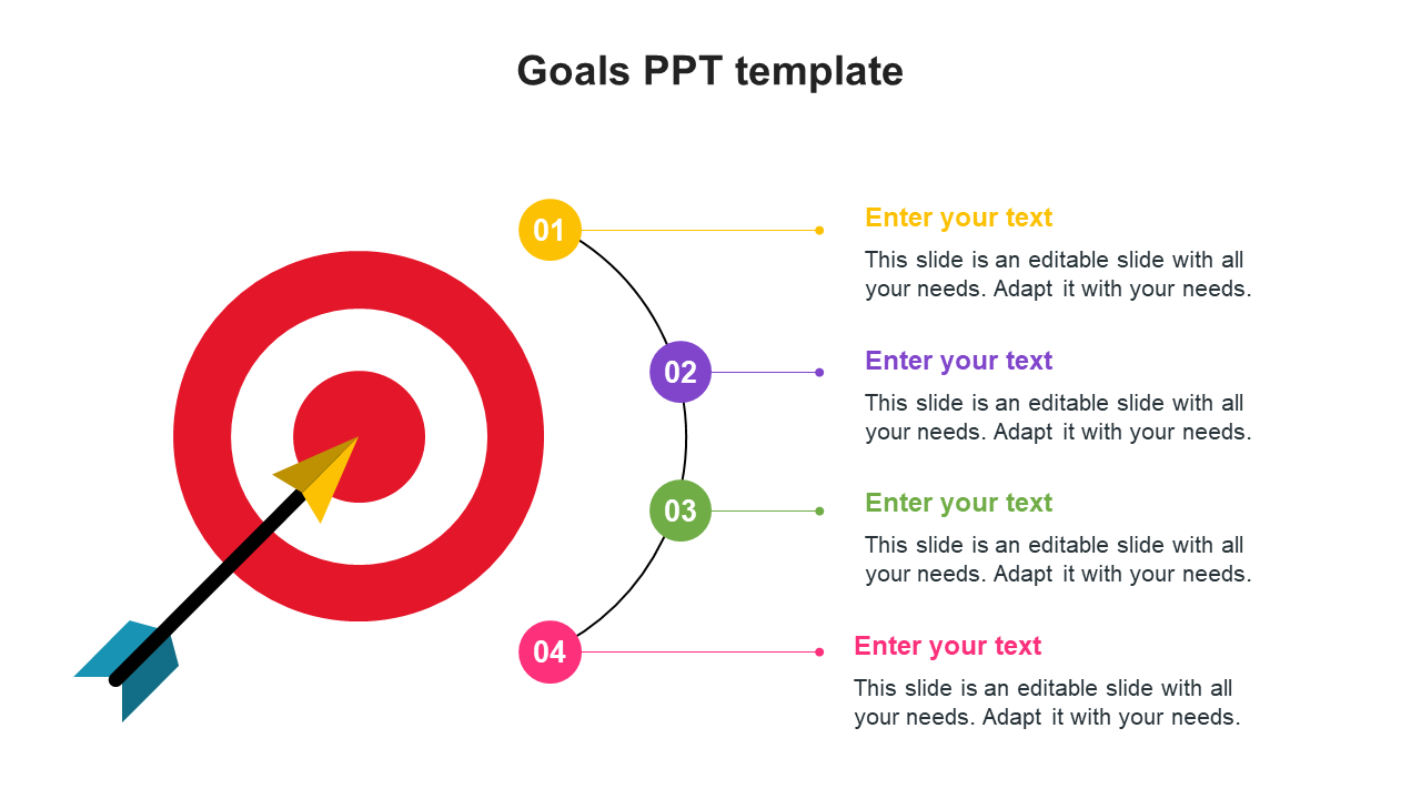 Goals PPT Template Designs