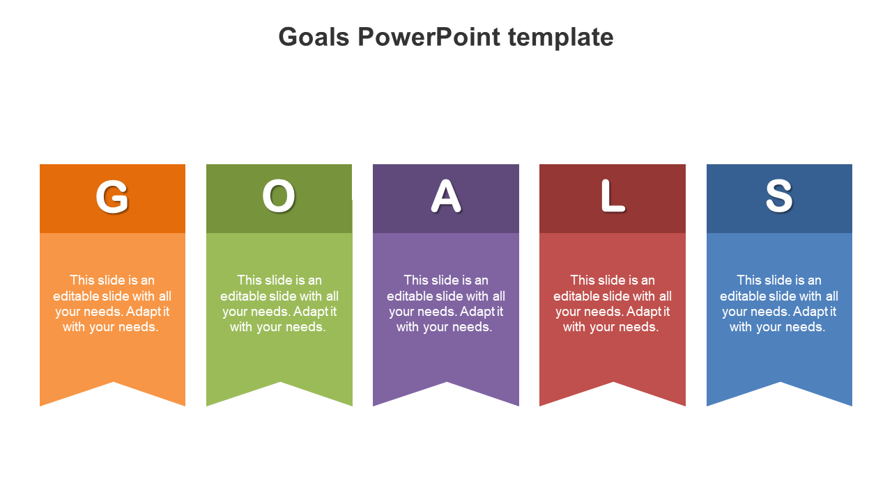 Goals PowerPoint Template Diagrams