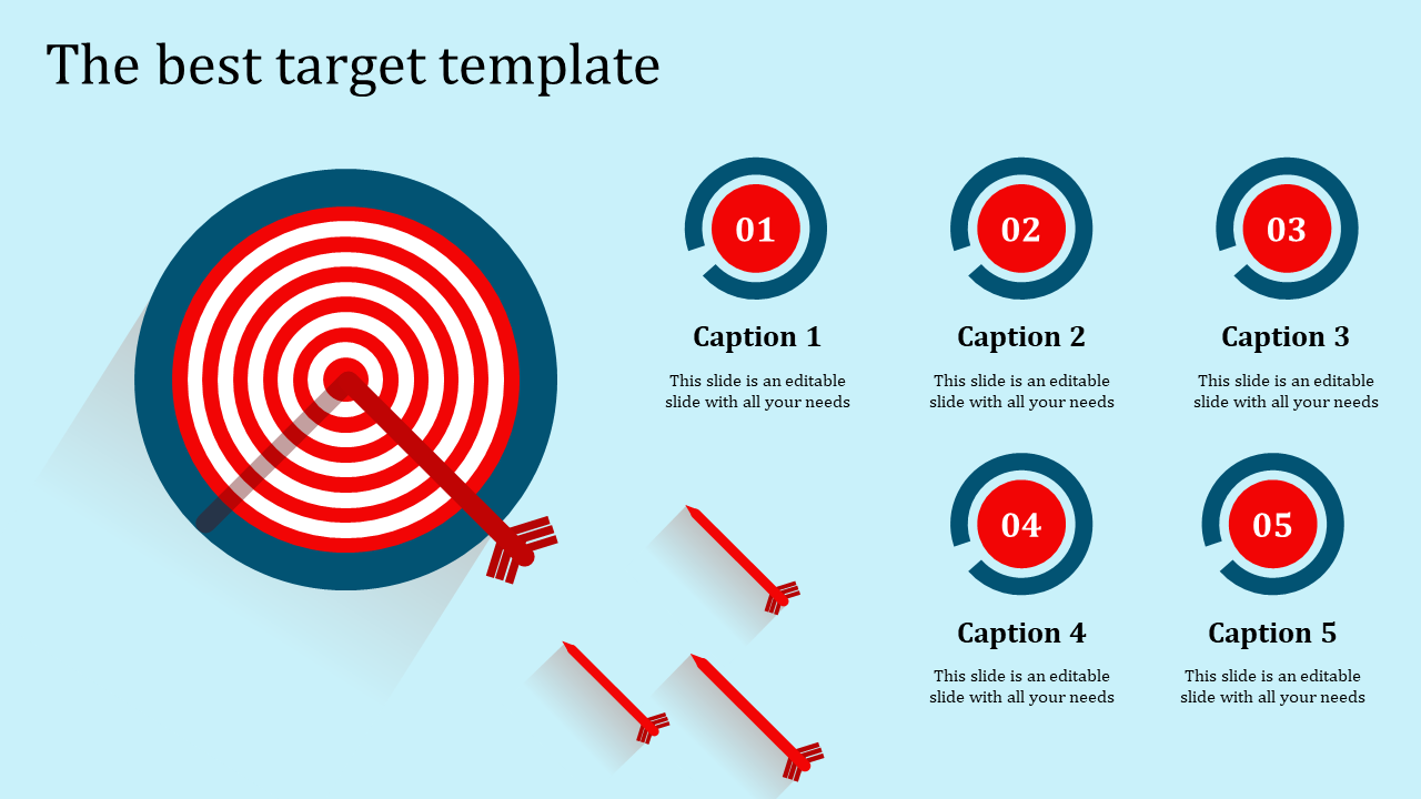 Target Template Powerpoint With Circles