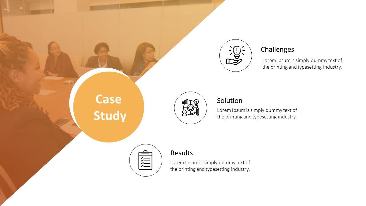 Case Study PPT Template Presentation