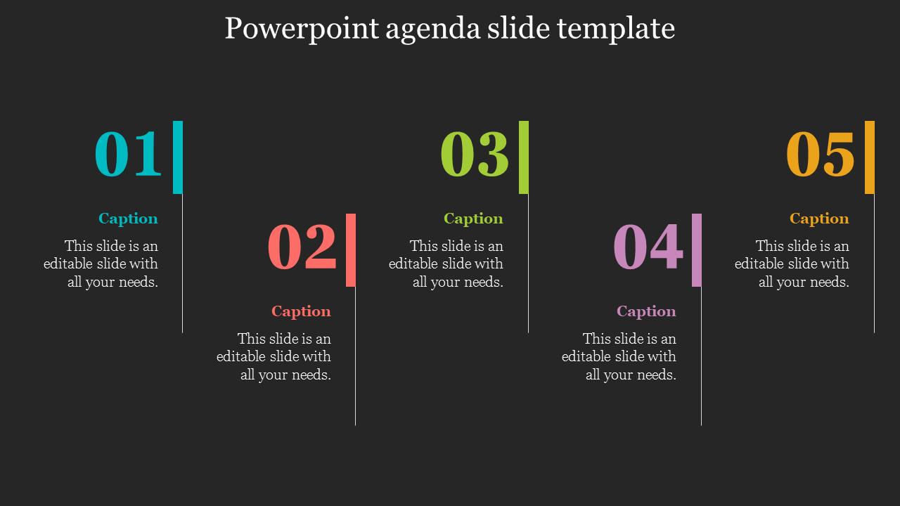 Highlighted Powerpoint Agenda Slide Template