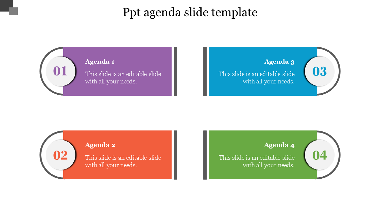 Creative PPT Agenda Slide Template