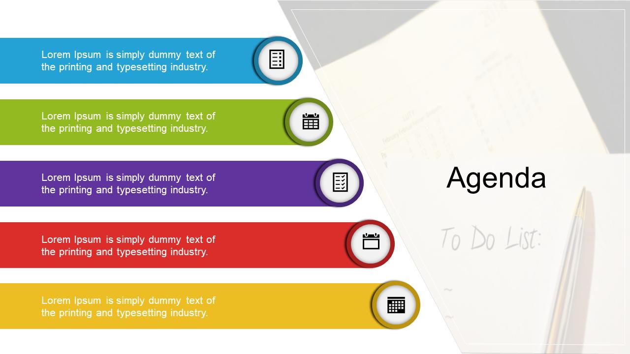 A Agenda PPT Design For Meeting