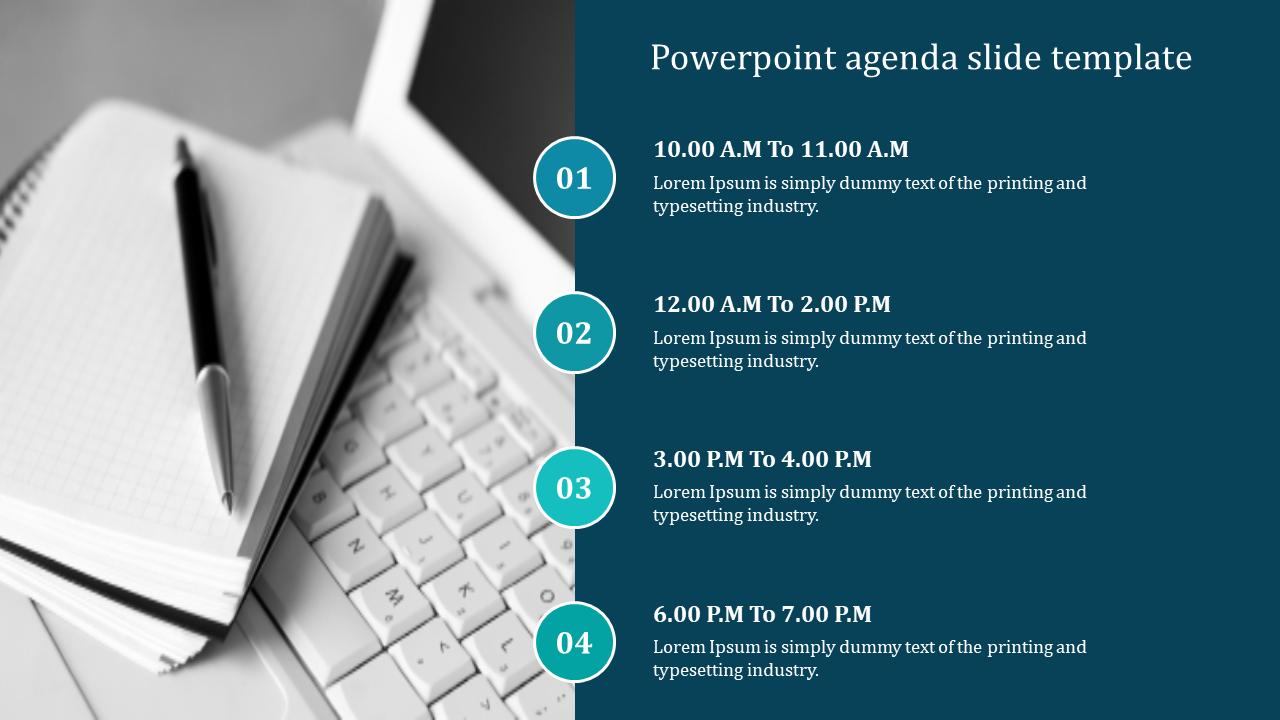 Powerpoint Agenda Slide Template Sample
