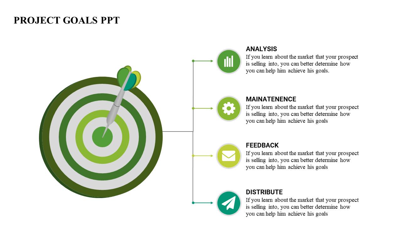 a powerpoint template goals objectives slideegg. Black Bedroom Furniture Sets. Home Design Ideas