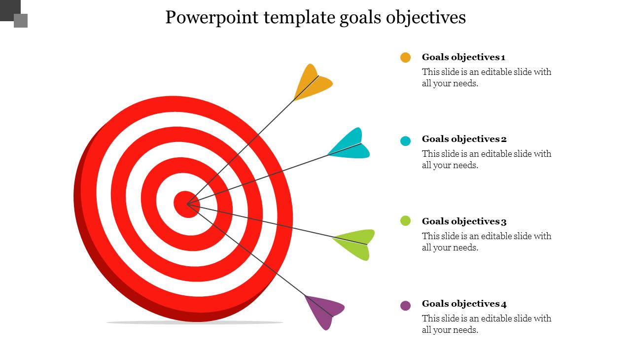 Dart Board Powerpoint Template Goals Objectives