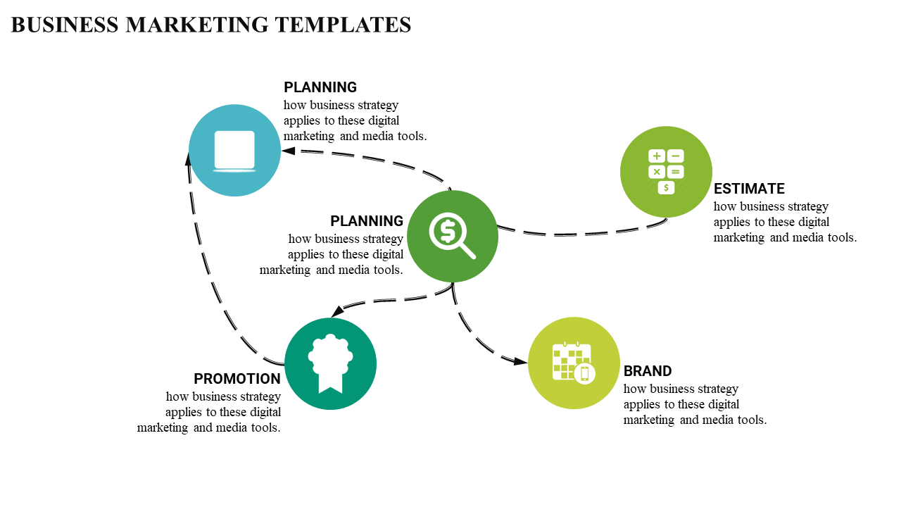 Business Marketing Plan Powerpoint Pre With Connected Model