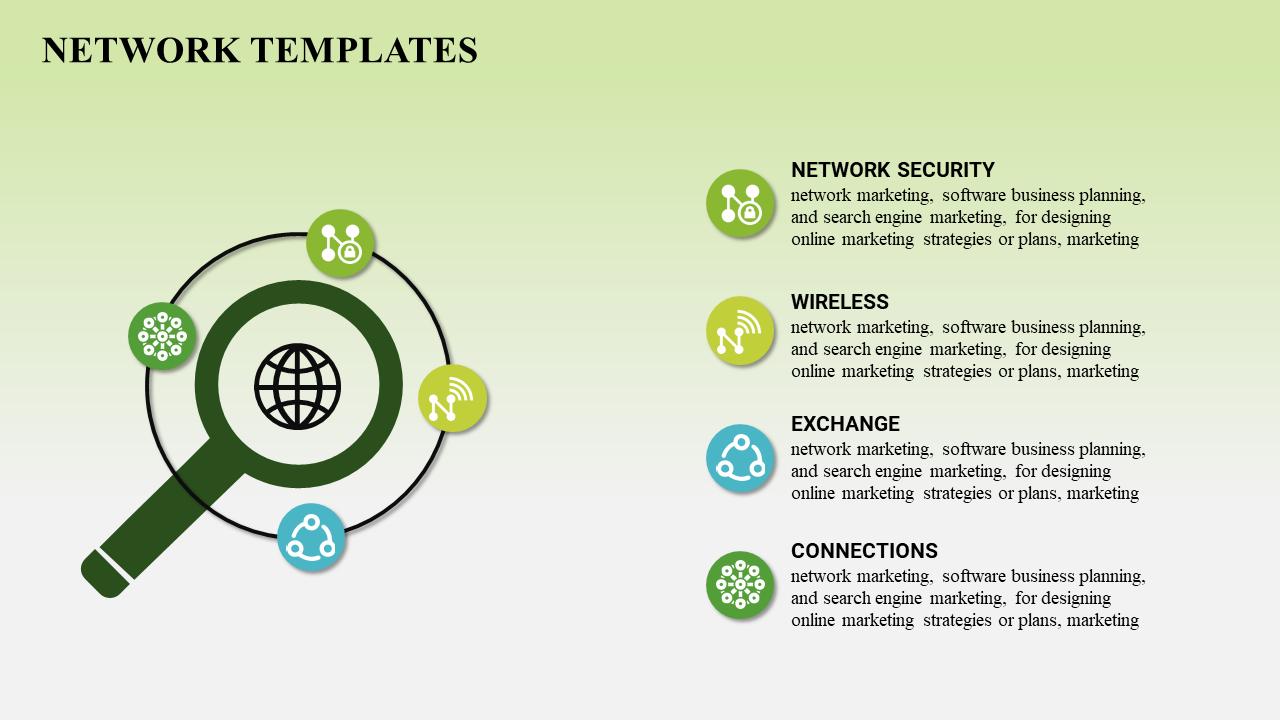 Technology Network Powerpoint Template