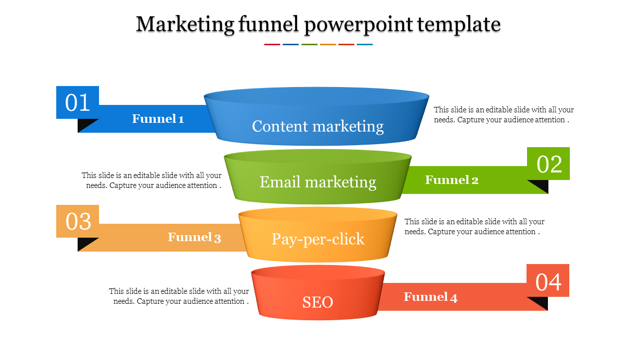 Editable Marketing Funnel Powerpoint Template - SlideEgg