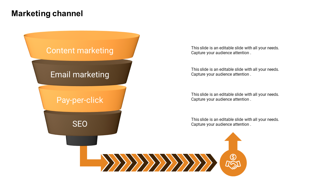 Marketing Funnel Powerpoint Template With Vertical Diagram