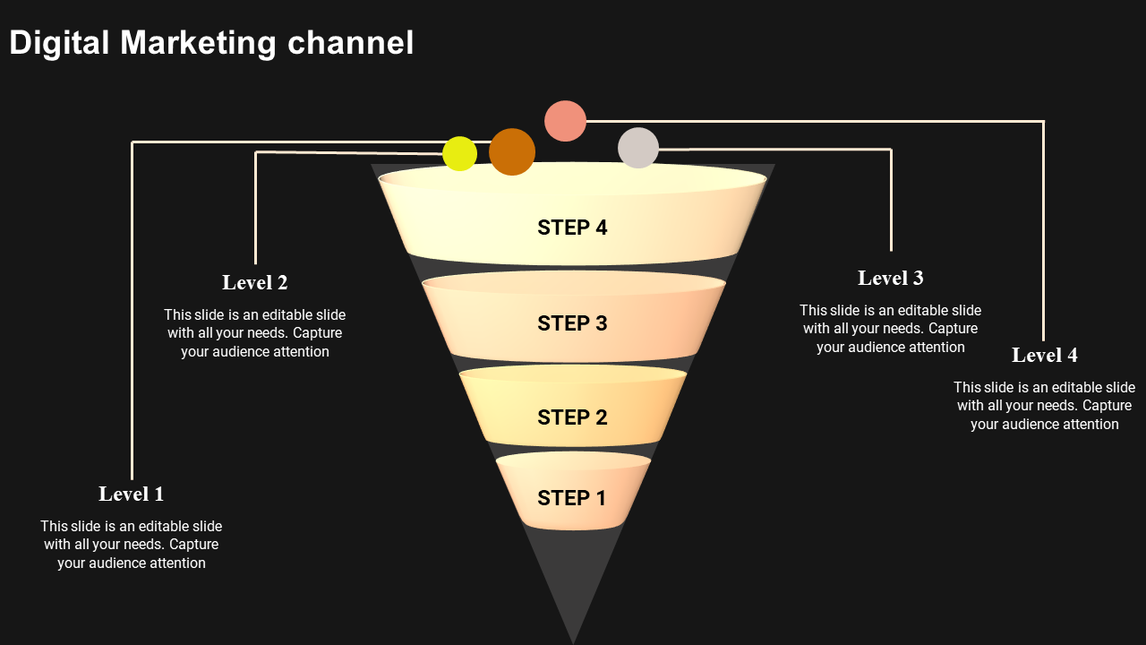 SlideEgg | marketing funnel powerpoint template-digital