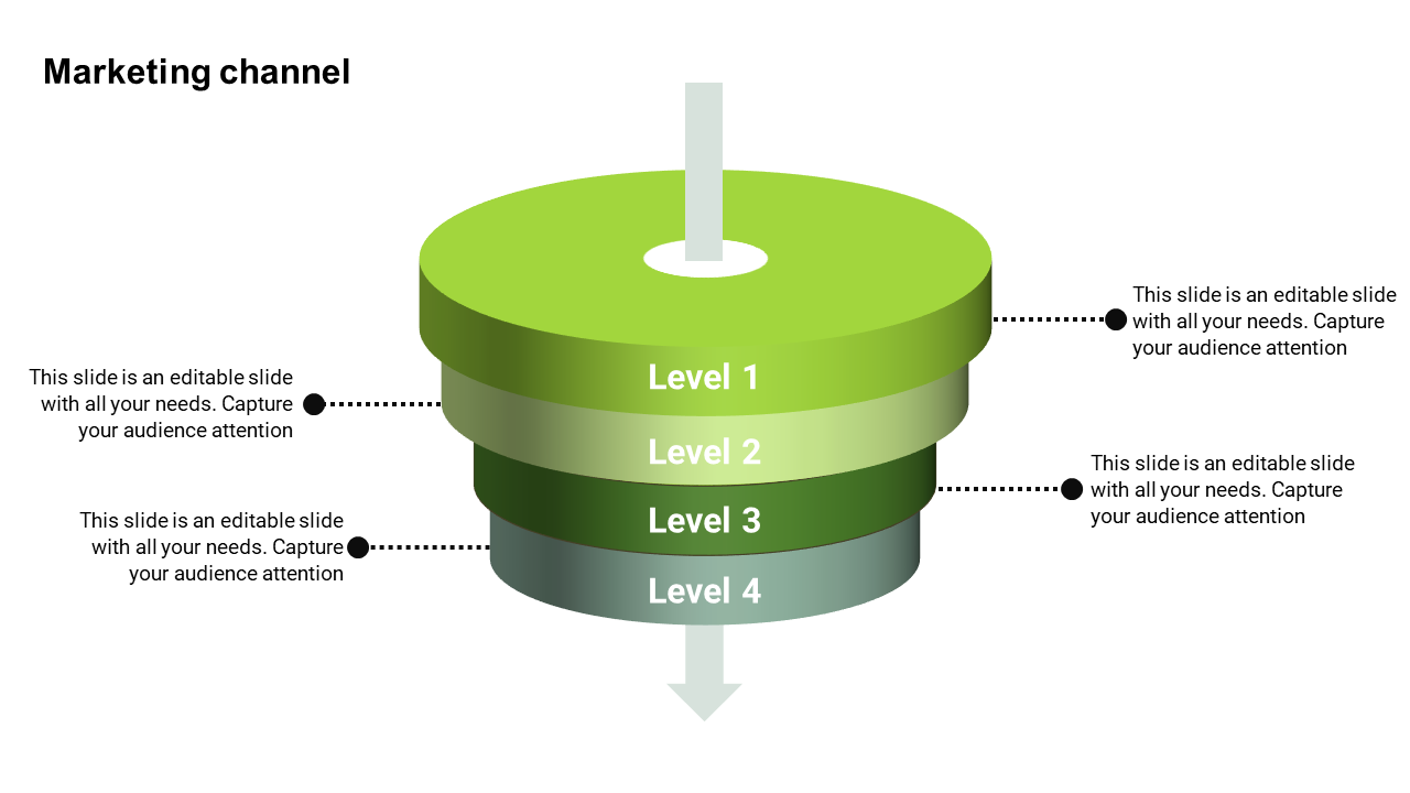 Marketing Funnel Powerpoint Template With Four Levels