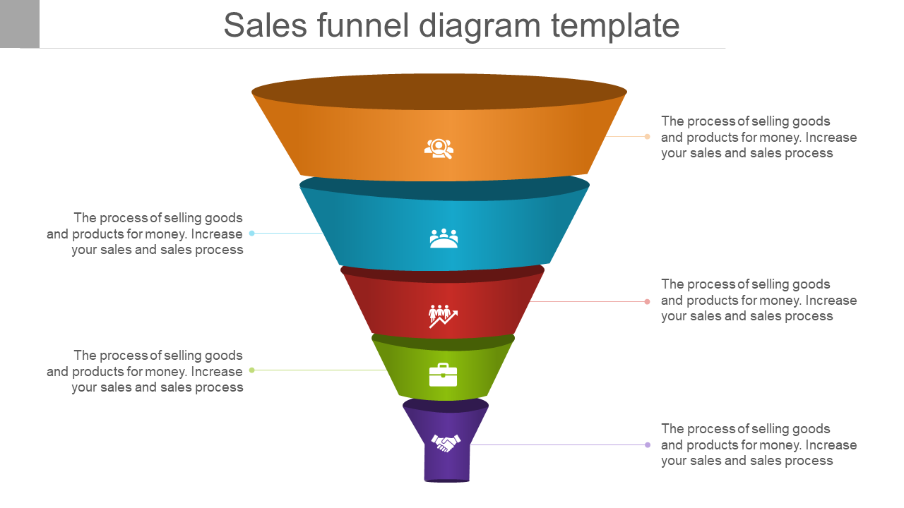 Business Sales Funnel Diagram Powerpoint