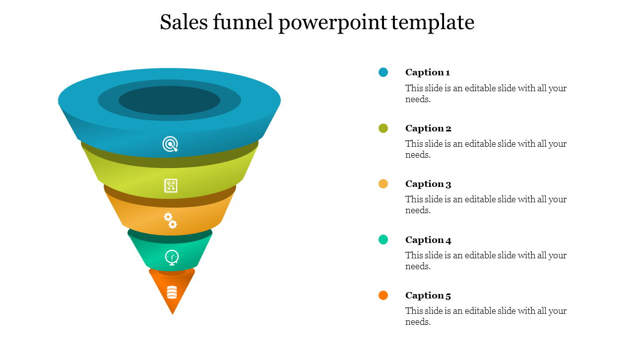 Best Sales Funnel Powerpoint Template