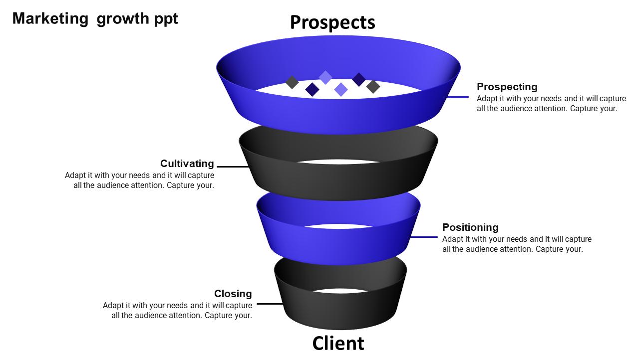 Marketing Sales Funnel Presentation Growth