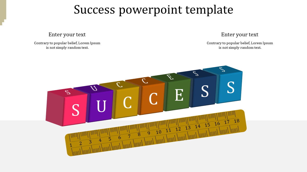Creative success powerpoint template