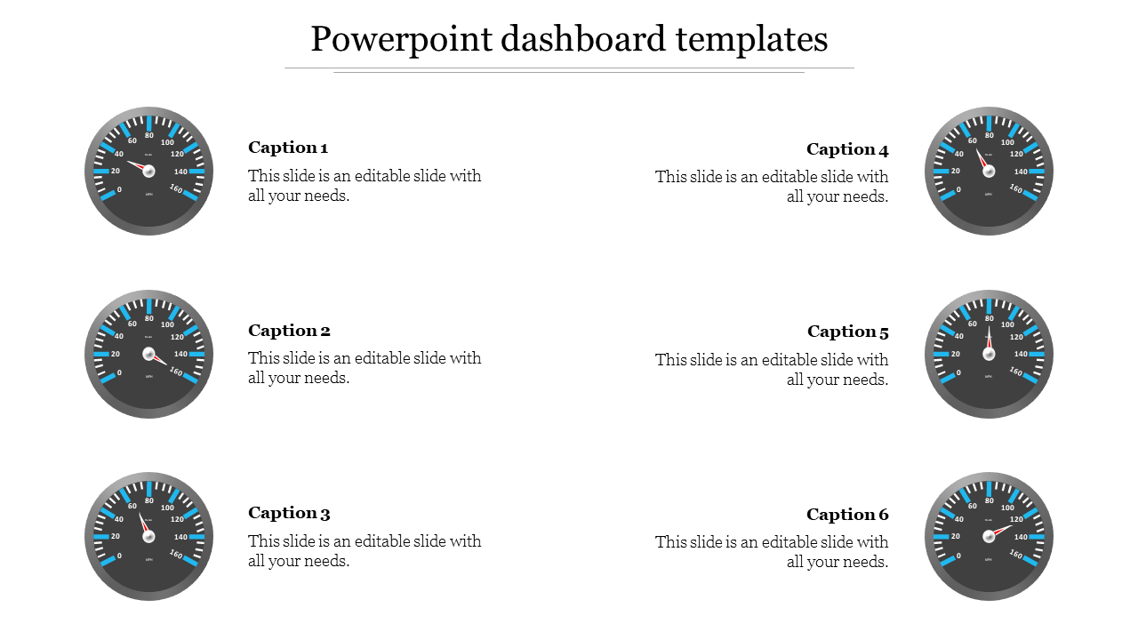 Creative powerpoint dashboard templates