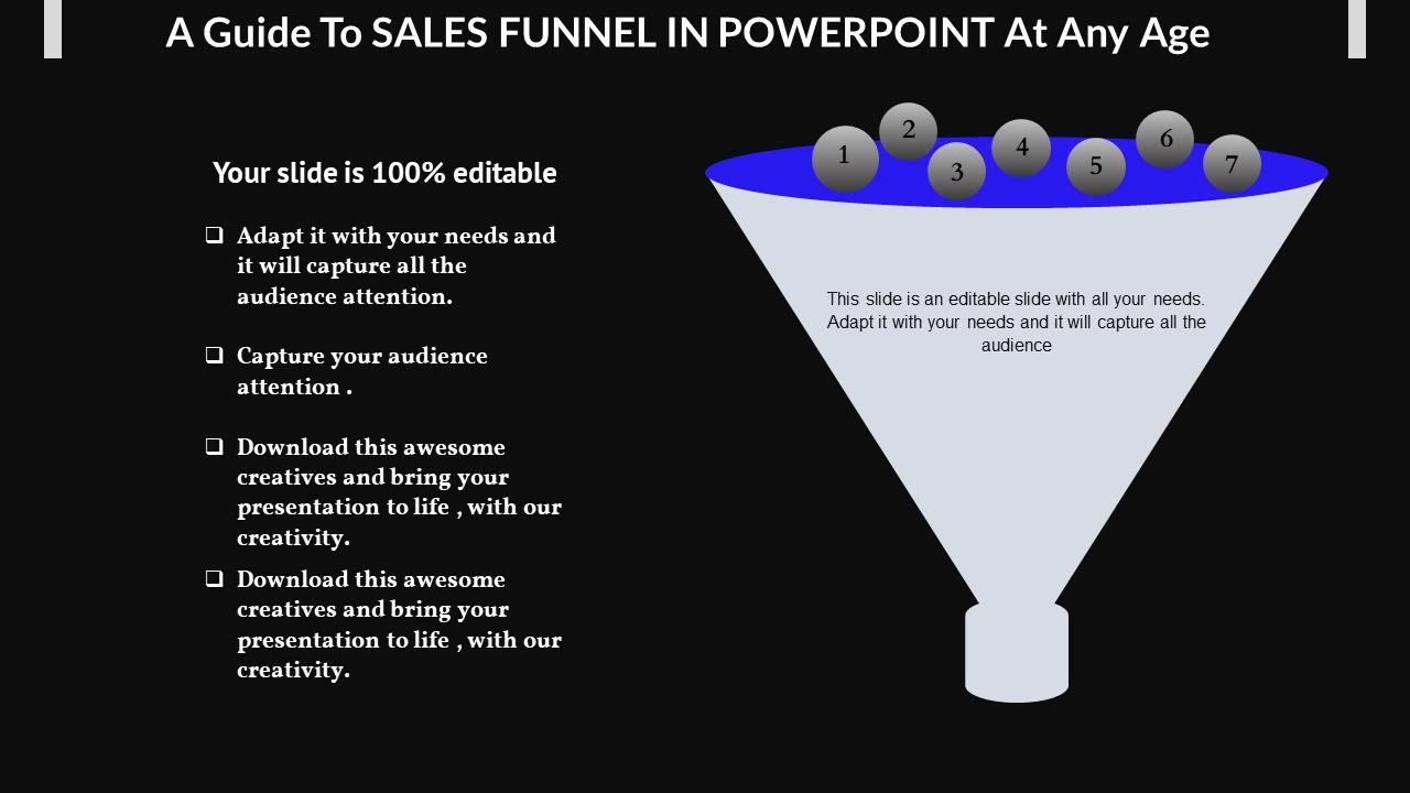 Sales Funnel In Powerpoint In Filter Model