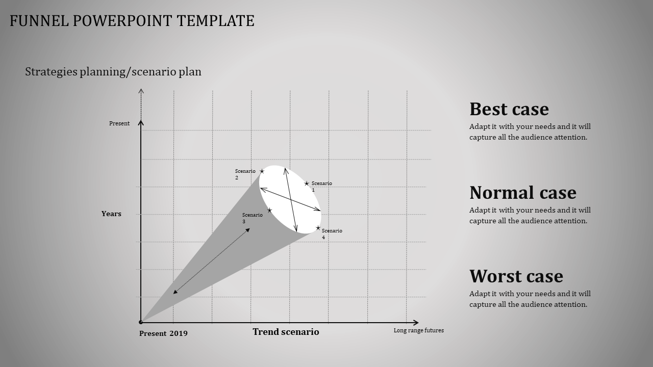 Cone Designed Funnel Powerpoint Template