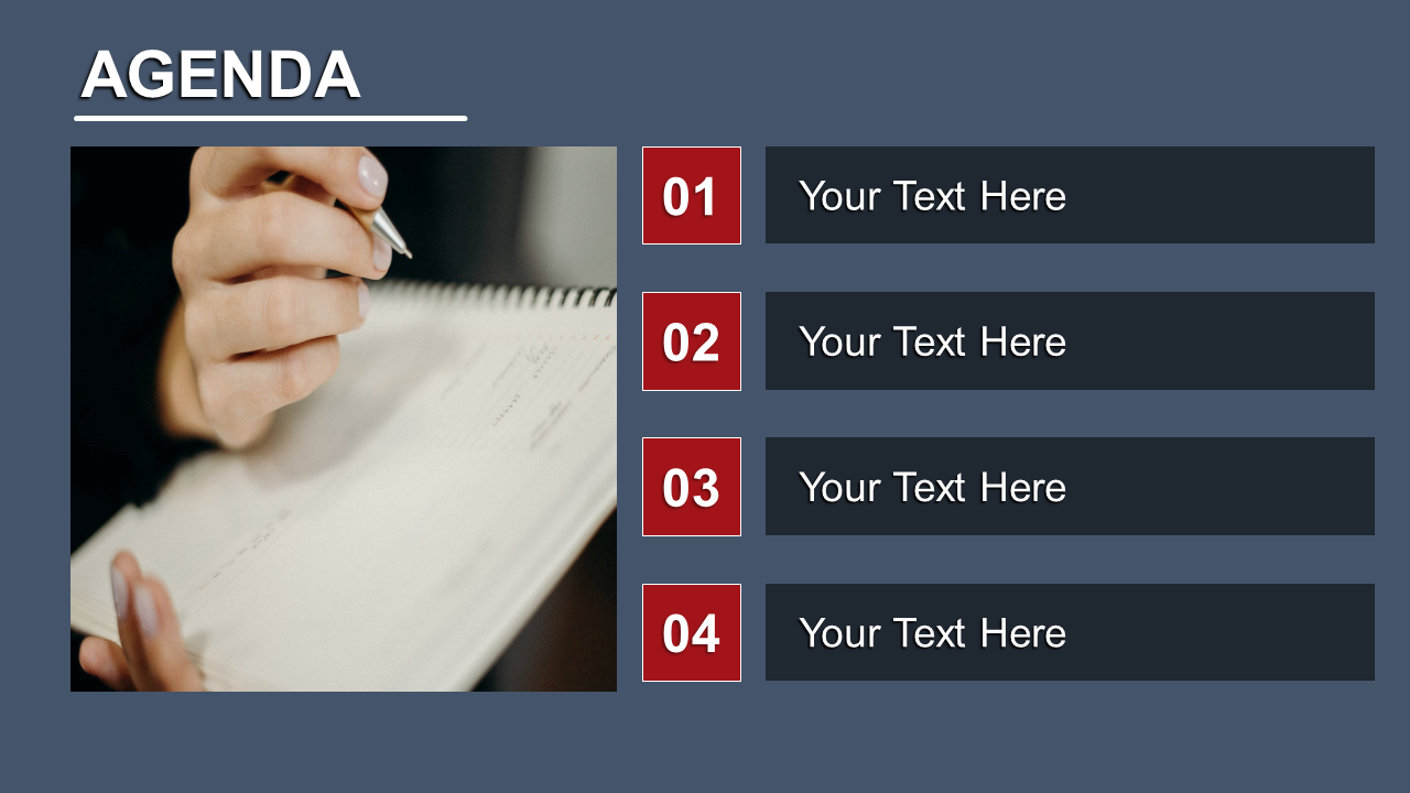 Attractive Powerpoint Agenda Slide Template