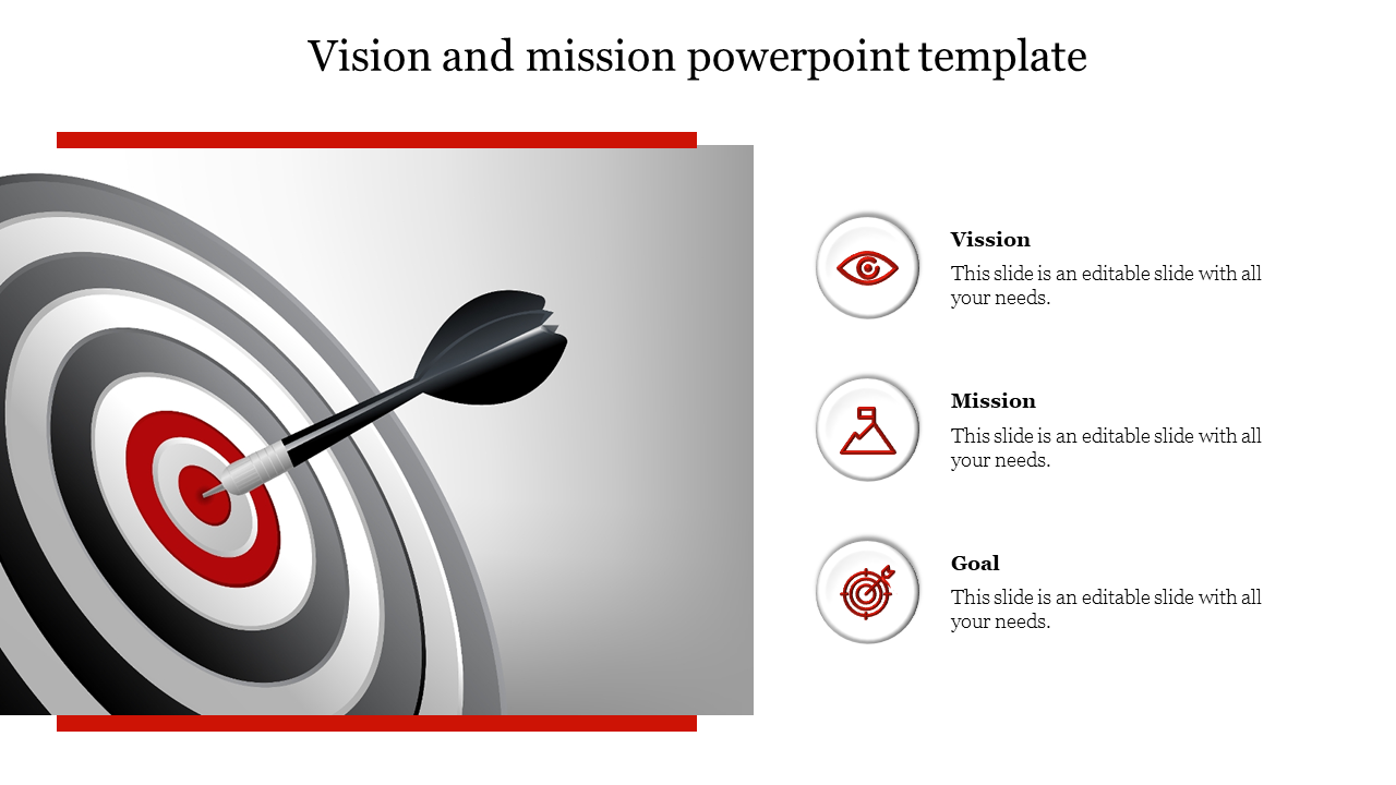 vision and mission powerpoint template - Target