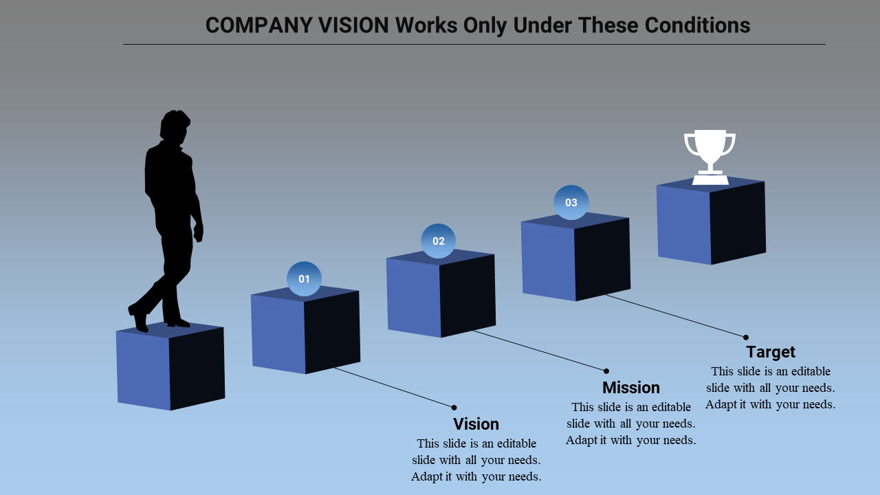 Free - Vision And Mission PPT Template-Five Stage