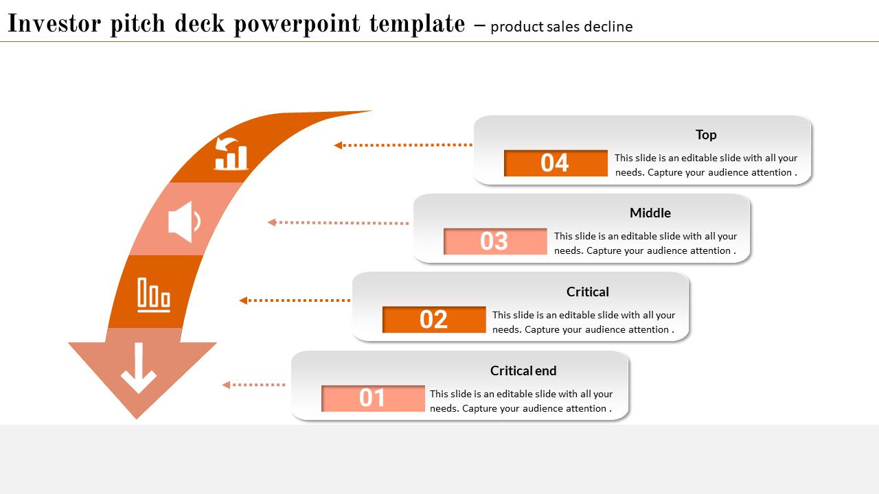 Investor Pitch Deck Powerpoint Templat - Curve Arrow