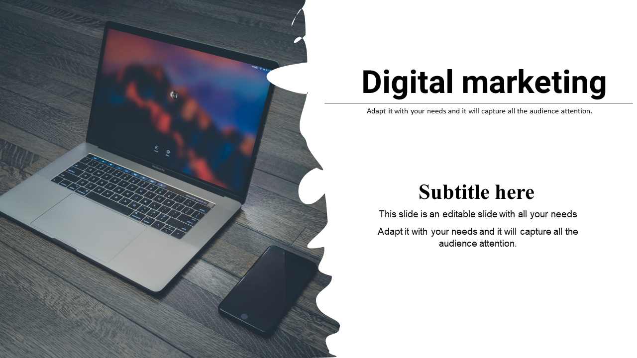 PPT Template Digital Marketing Portfolio Model