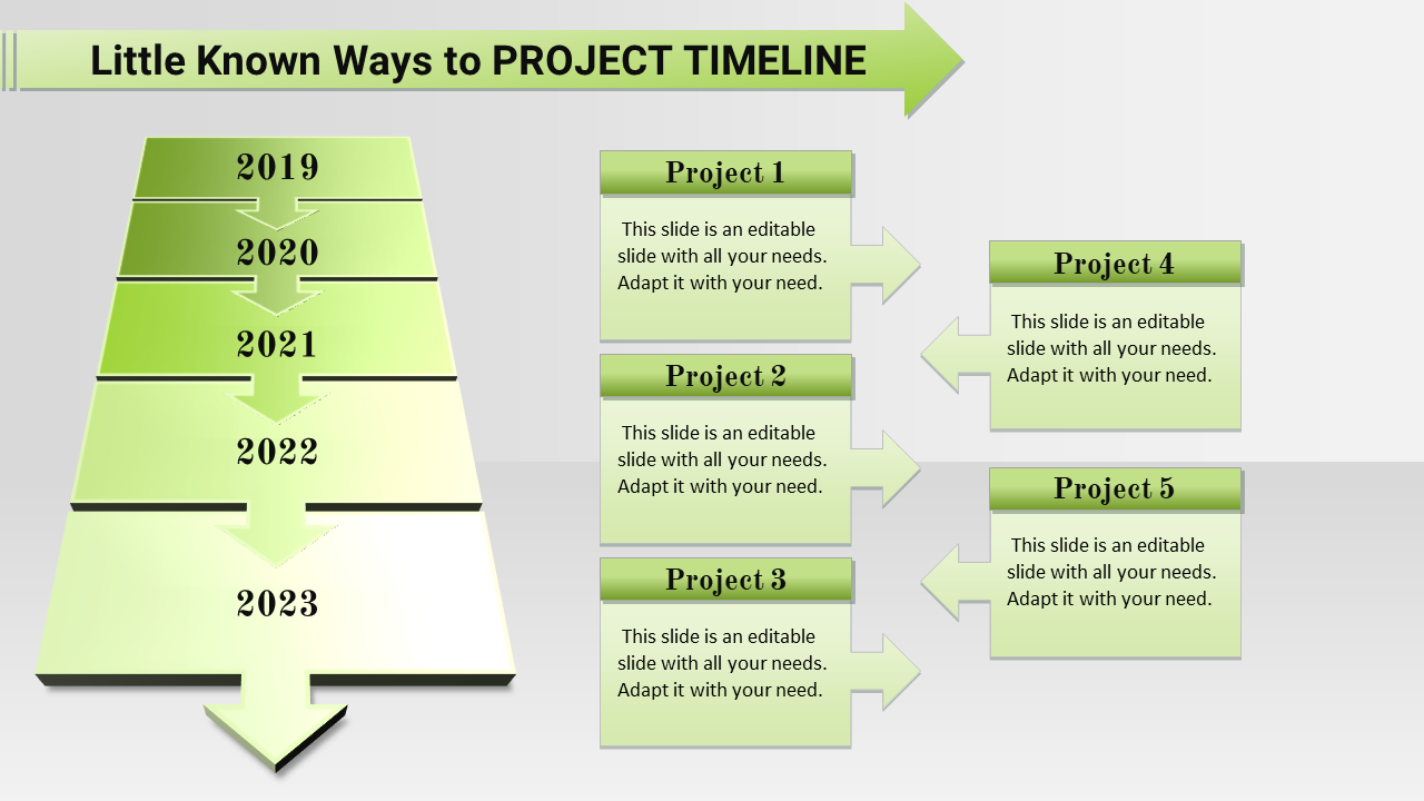 Highlighted Project Plan Timeline Powerpoint Templ