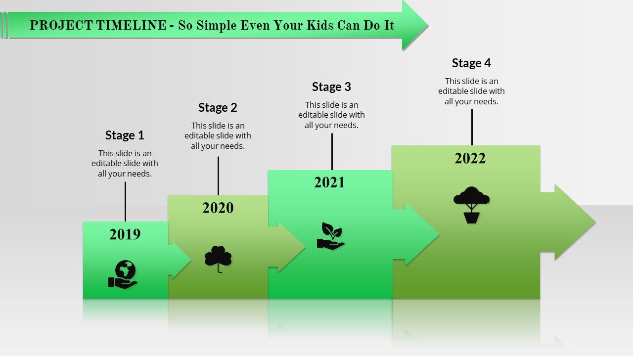 Free-ordered Timeline Powerpoint Template