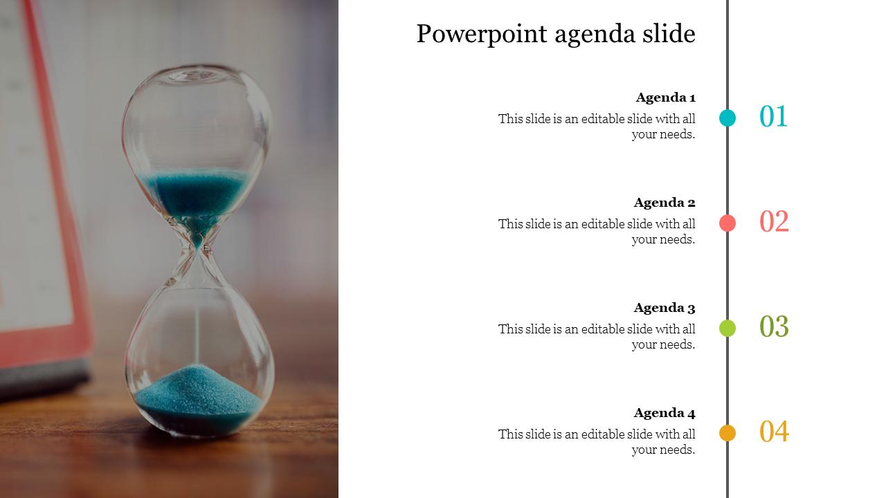 Editable Powerpoint Agenda Slide Template
