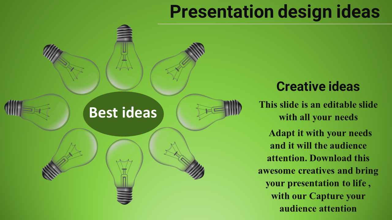 Free-presentation Design Ideas