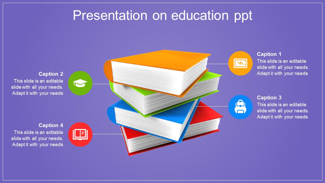 Book Model Presentation On Education PPT