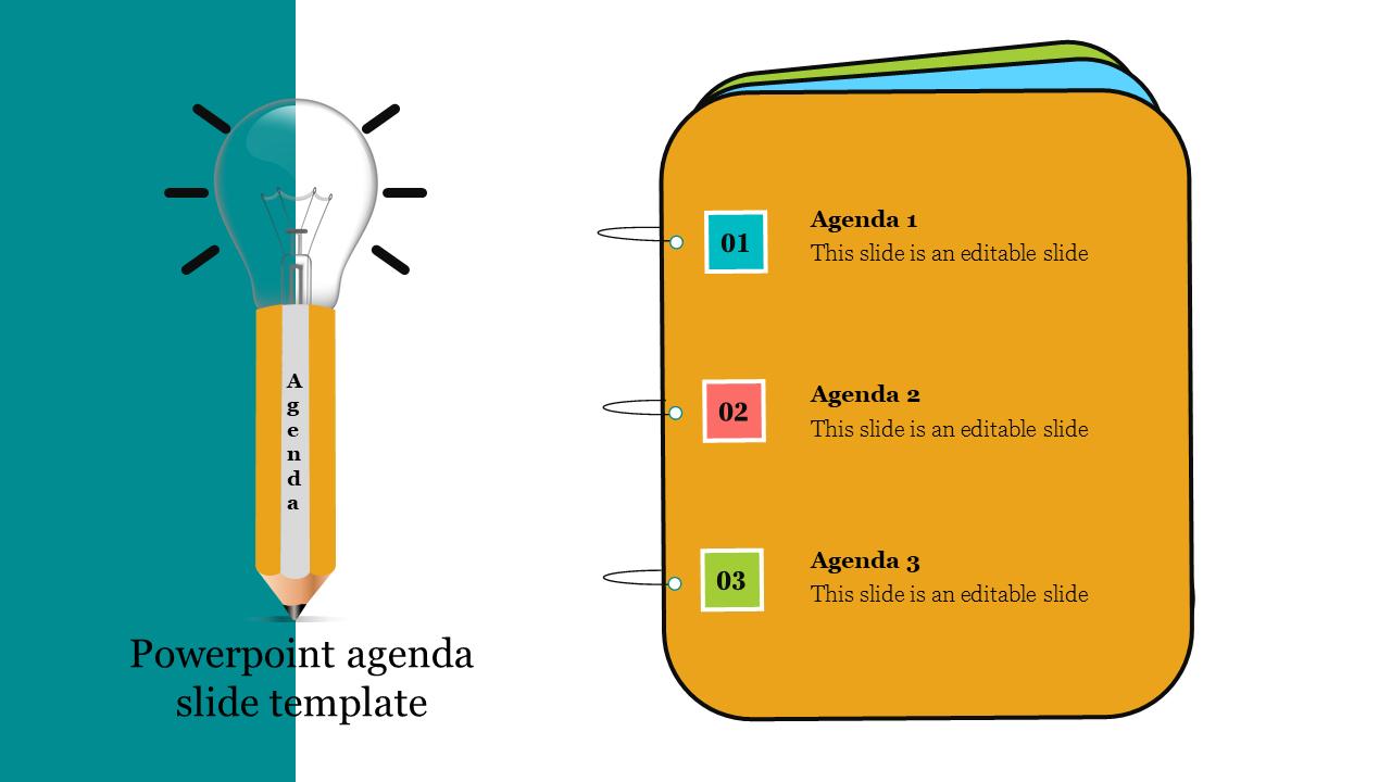 Best Creative Powerpoint Agenda Slide Template