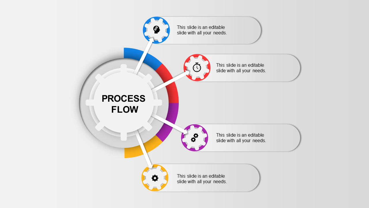 The Infographic Process Flow PPT Template