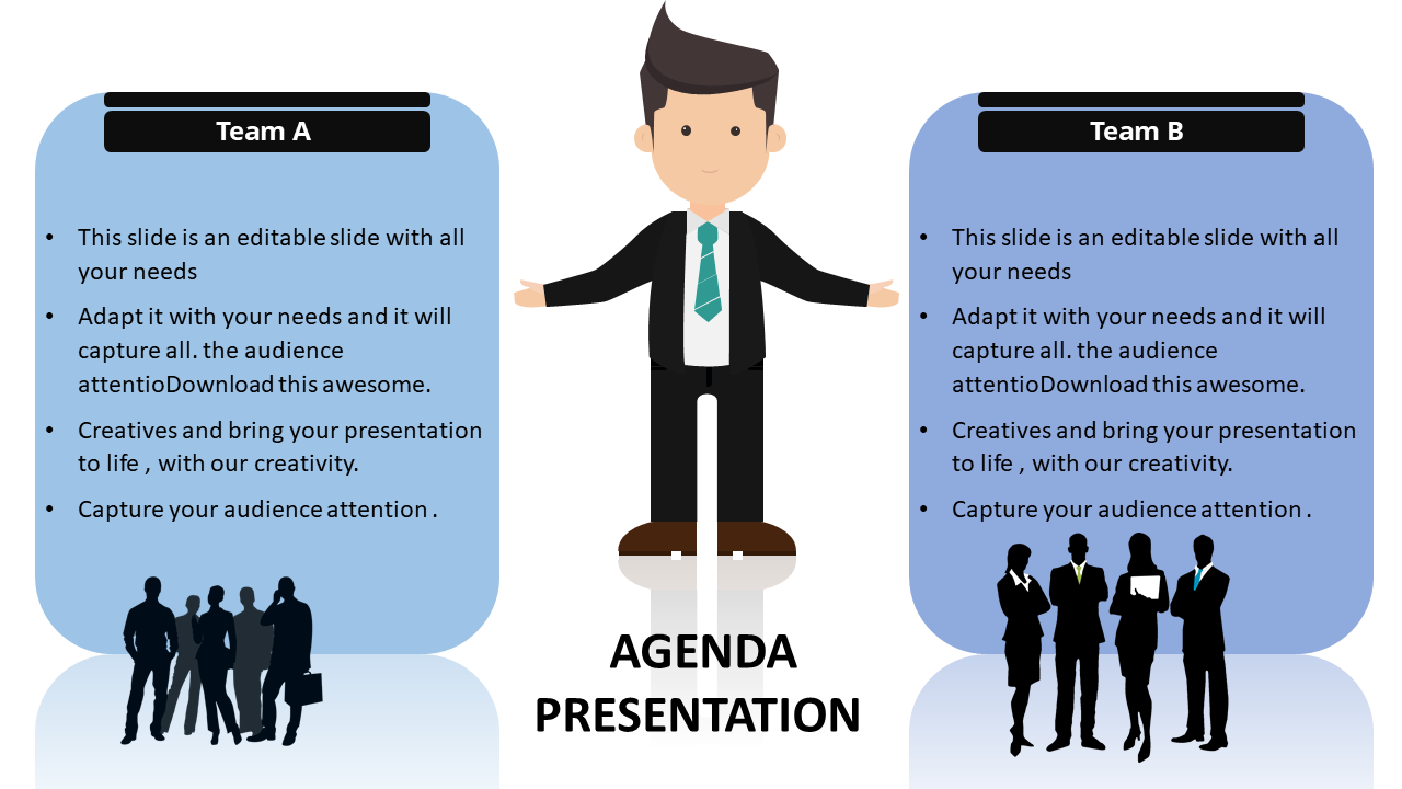 Team Powerpoint Agenda Slide Template