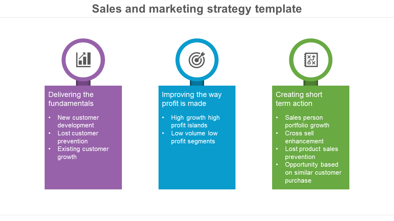Sales And Marketing Strategy Template - Growth