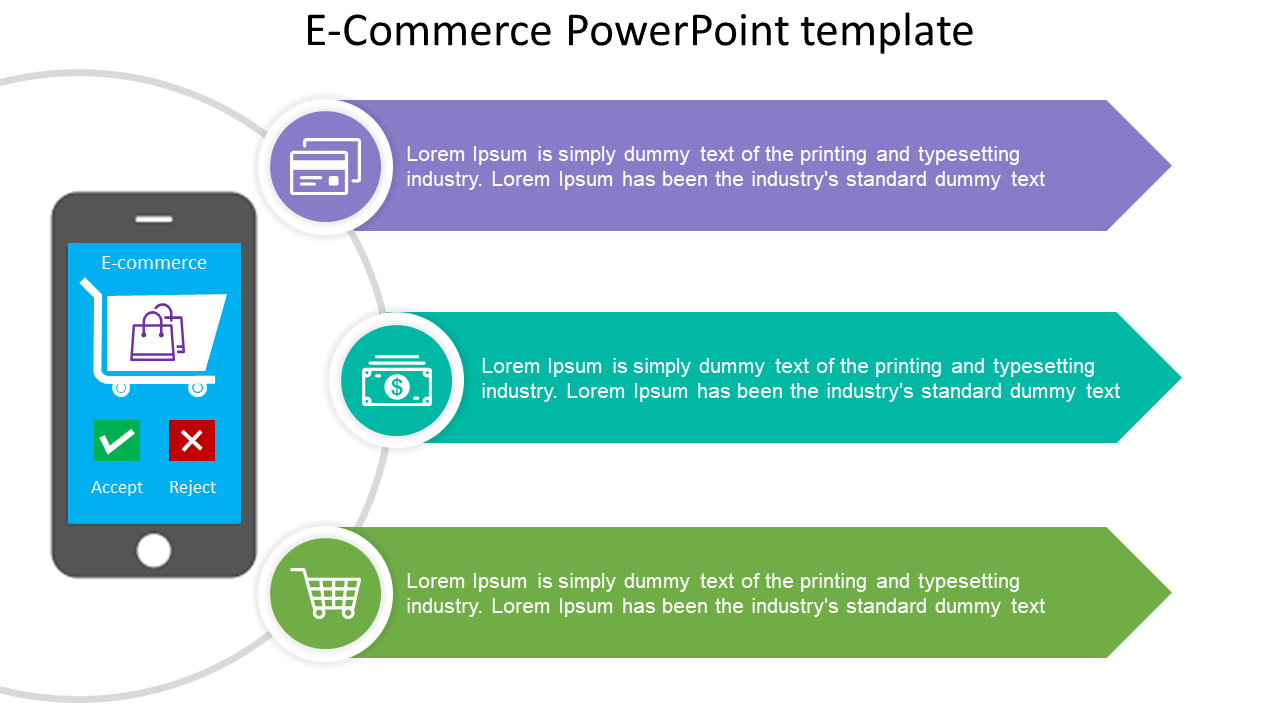 E-commerce PowerPoint Template Online Retail Market
