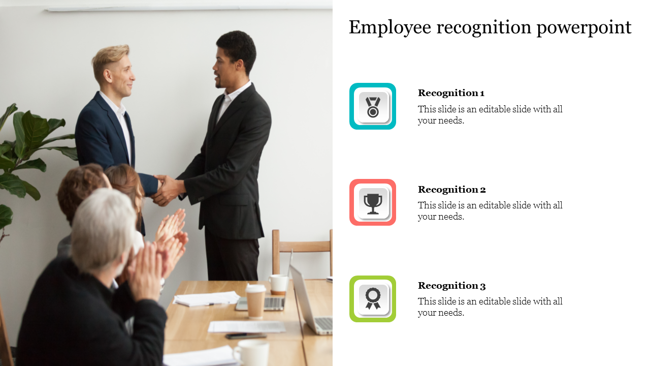 Employee Recognition PowerPoint With Portfolio Design
