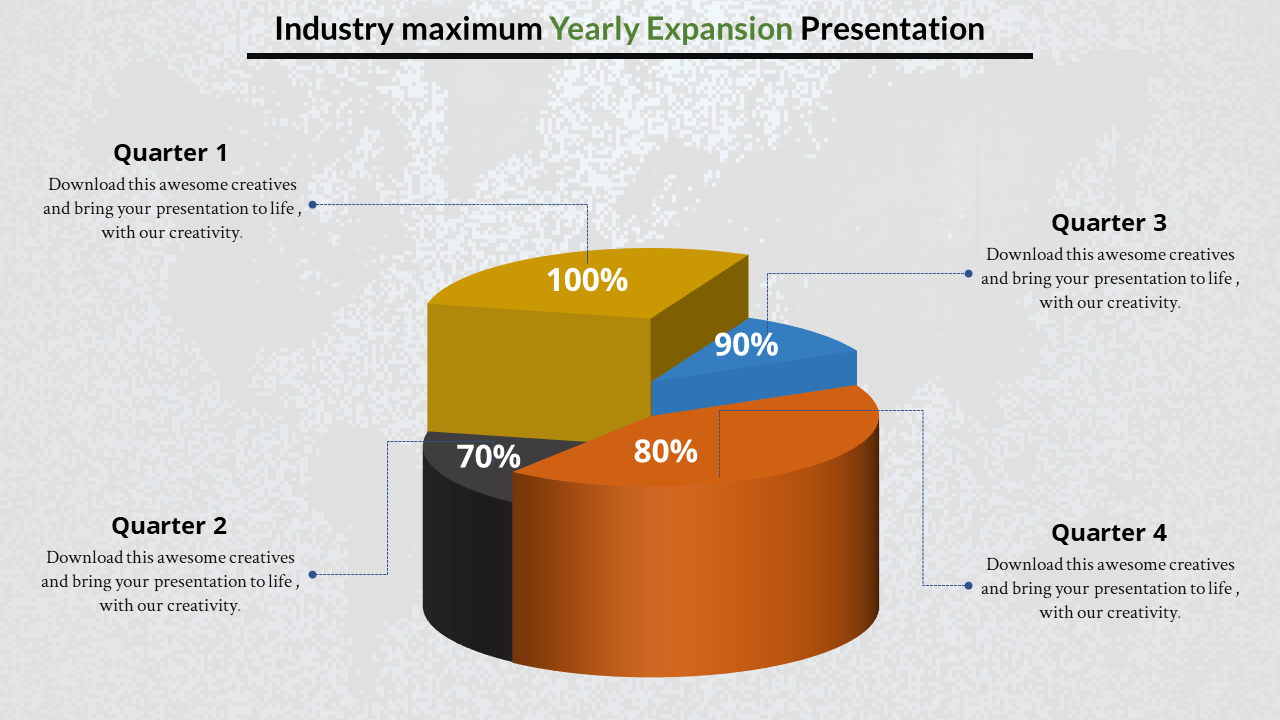 Annual Report Presentation Powerpoint With Percentage