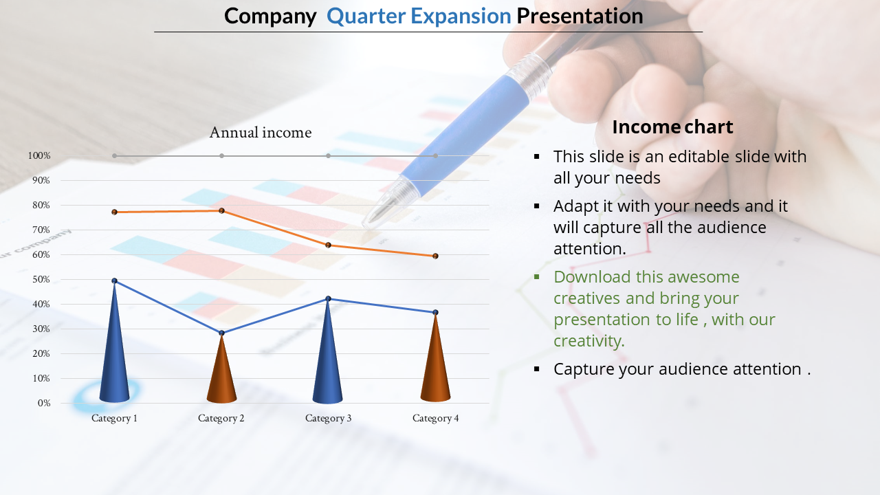 Graphical Method Annual Report Presentation Template