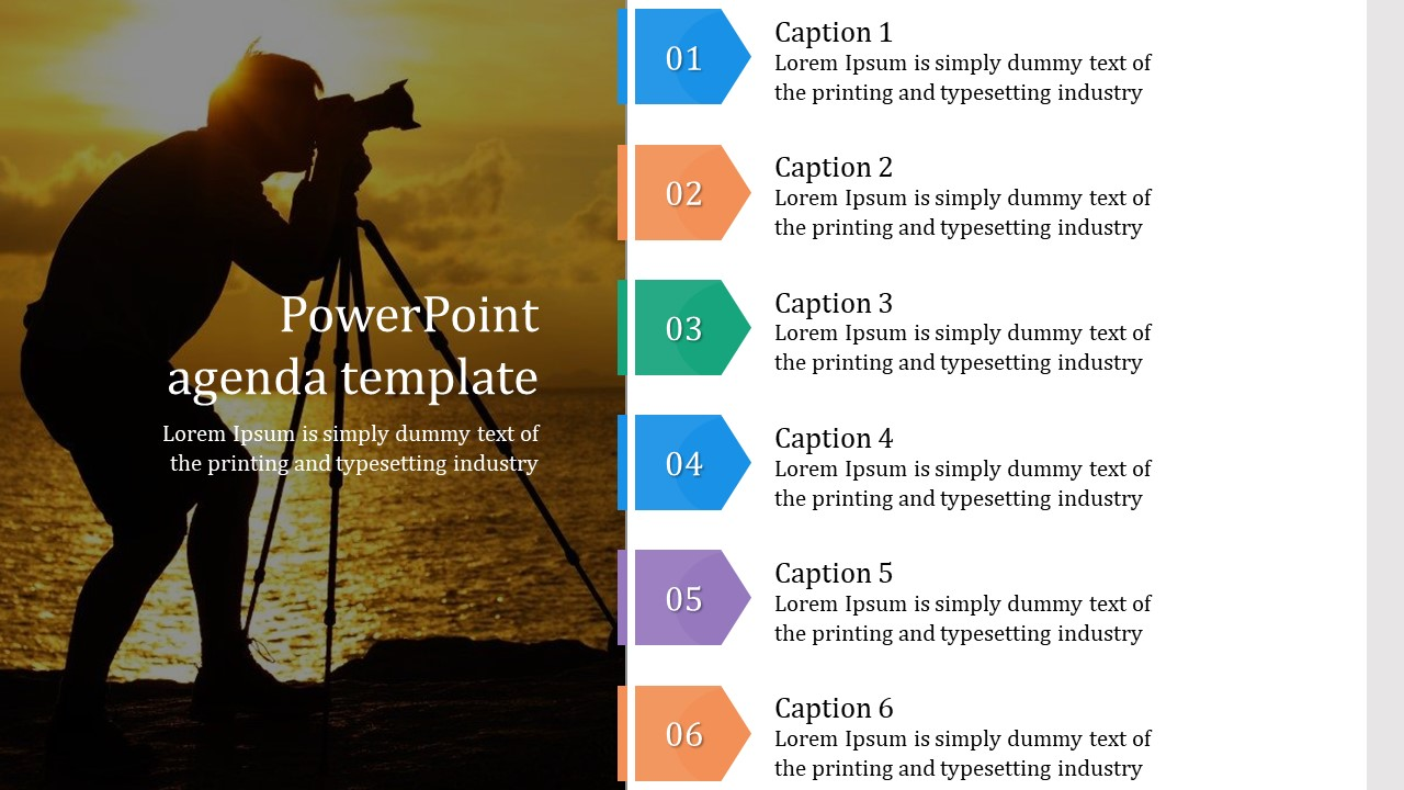 Chevron PowerPoint agenda template