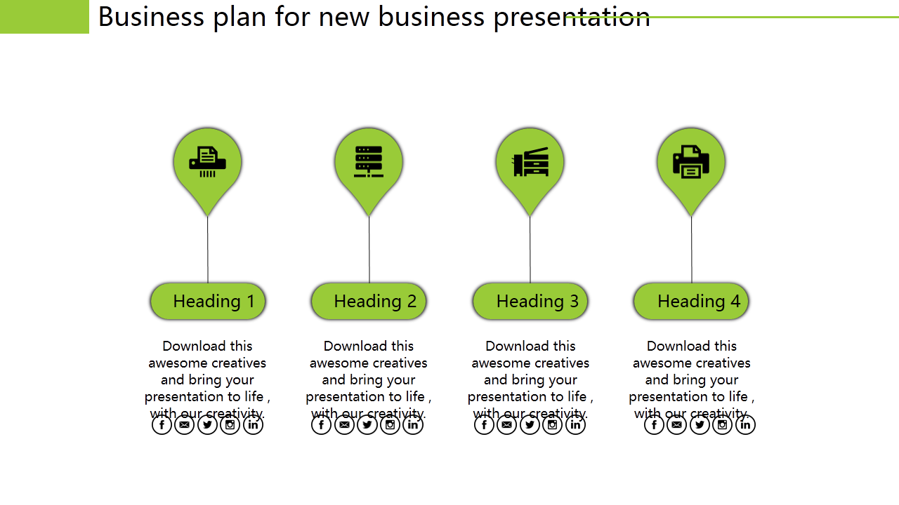 Free - Powerpoint On Business Plan For New Business Process