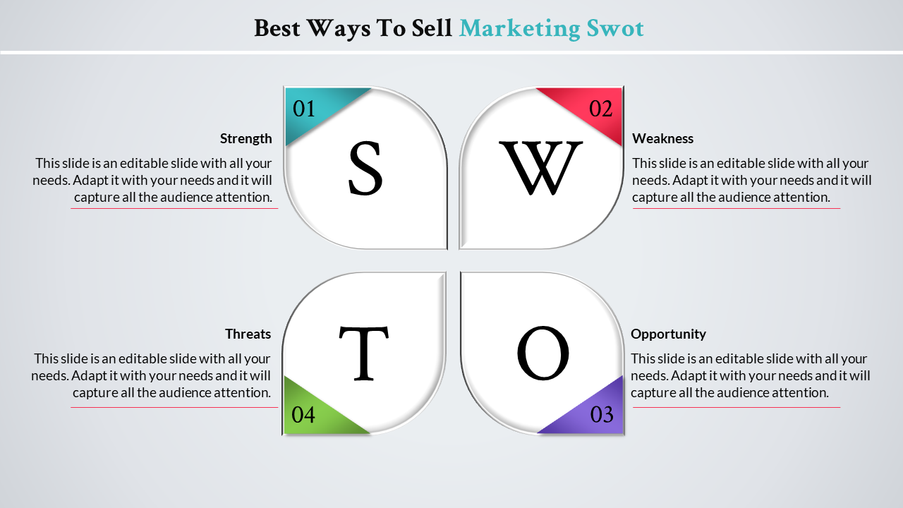 Free - 	Marketing Swot Analysis Template-Leaf Model