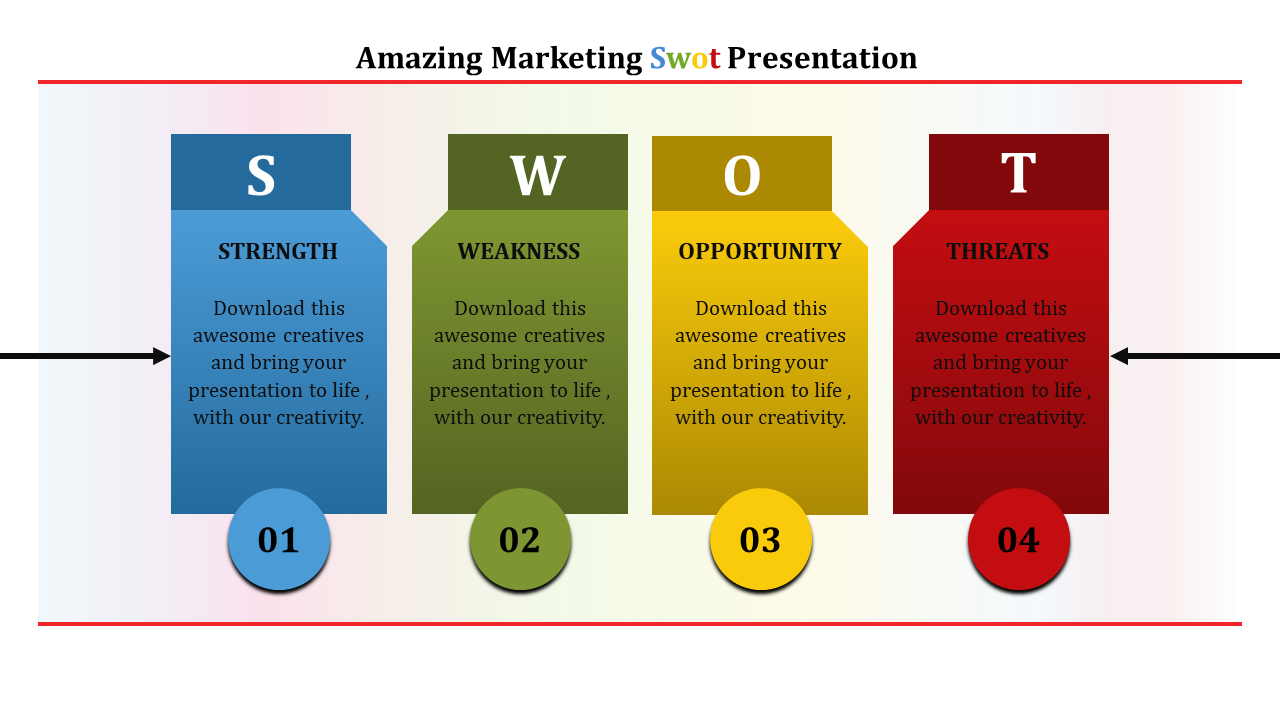 Best Marketing SWOT Analysis Template Presentation