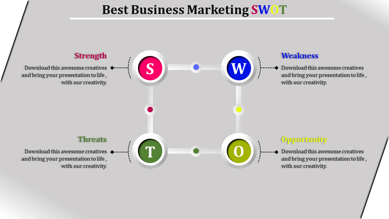 Infographic Marketing SWOT Analysis Template