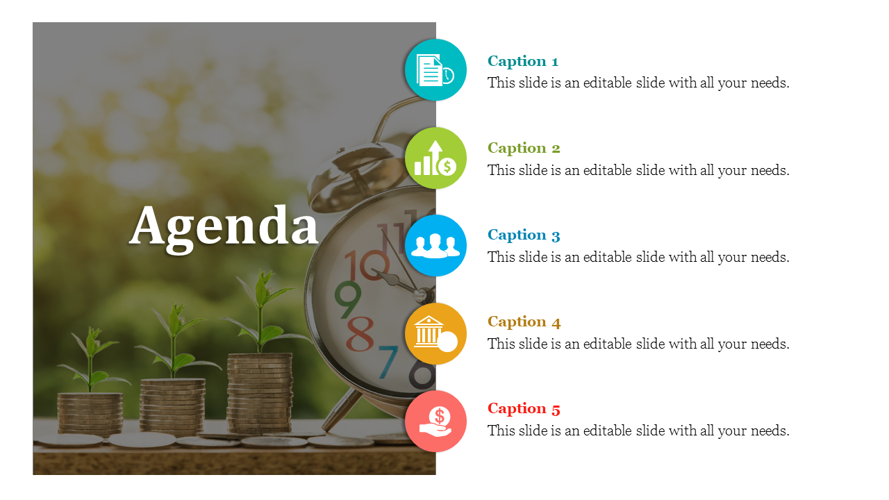 Powerpoint Agenda Slide Template With Image