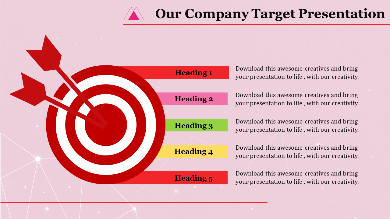 Target Template Powerpoint - 5 Steps